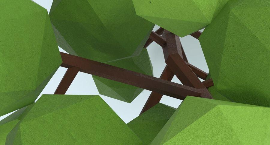 低聚绿叶树1 royalty-free 3d model - Preview no. 9