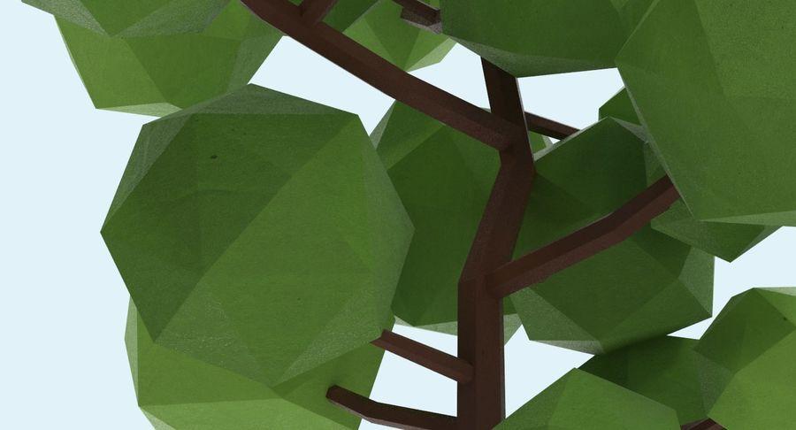 低聚绿叶树1 royalty-free 3d model - Preview no. 8