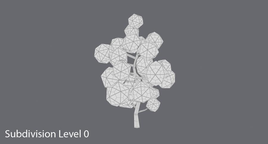 低聚绿叶树1 royalty-free 3d model - Preview no. 11