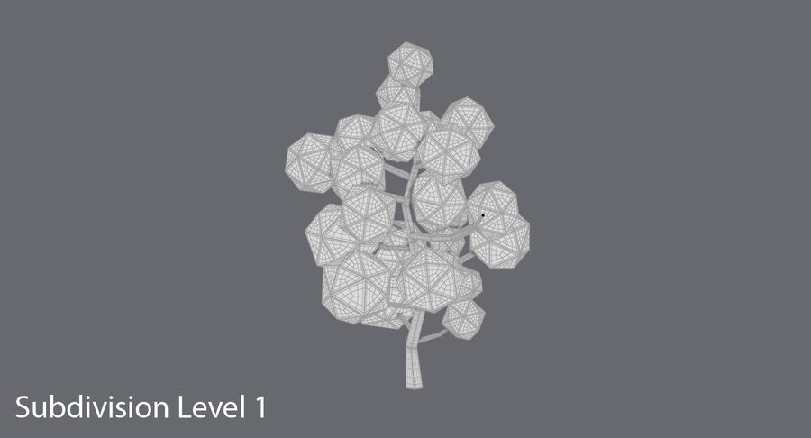低聚绿叶树1 royalty-free 3d model - Preview no. 13