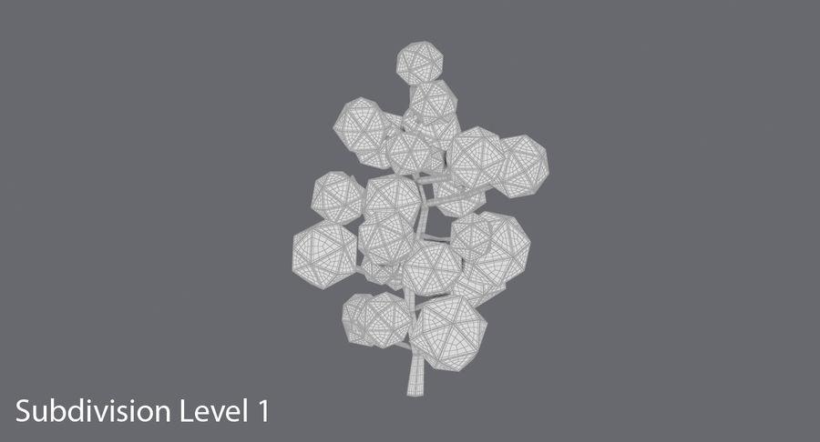 低聚绿叶树1 royalty-free 3d model - Preview no. 12