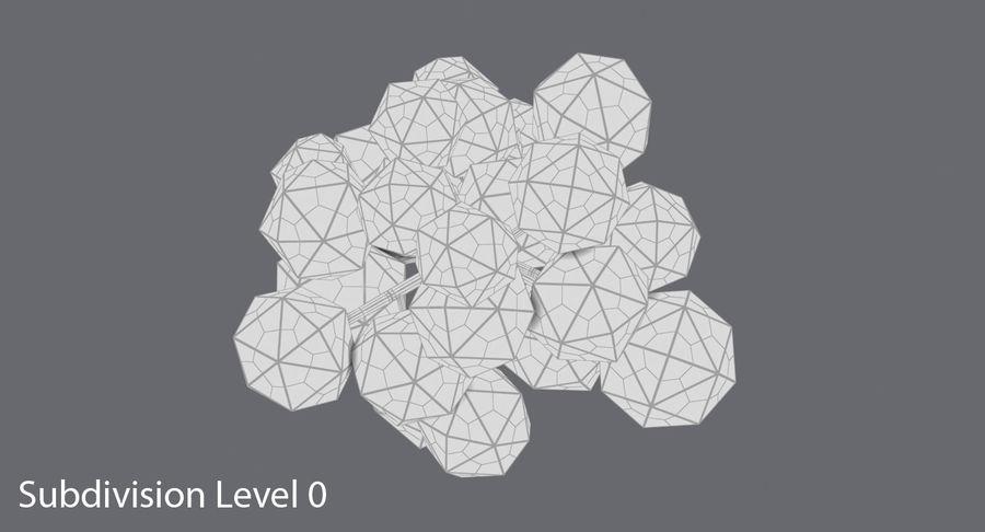 低聚绿叶树1 royalty-free 3d model - Preview no. 14