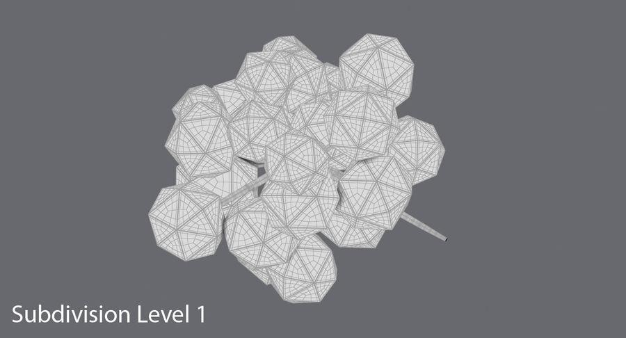 低聚绿叶树1 royalty-free 3d model - Preview no. 15