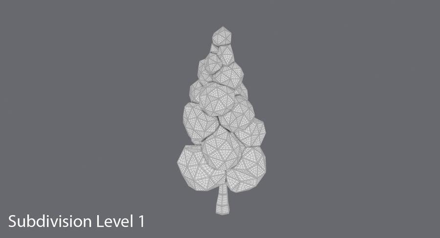 低聚绿叶树3 royalty-free 3d model - Preview no. 16