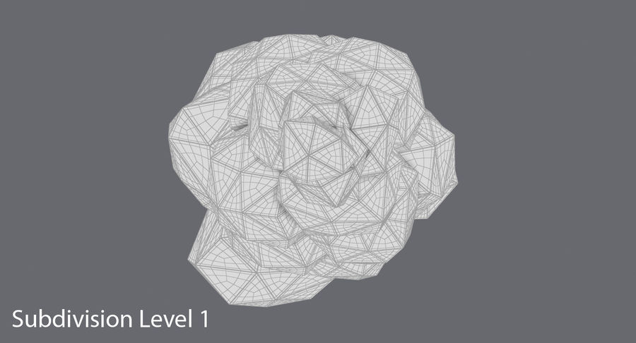 低聚绿叶树3 royalty-free 3d model - Preview no. 14