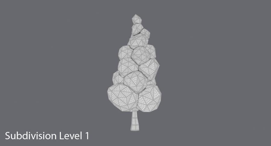 低聚绿叶树3 royalty-free 3d model - Preview no. 12
