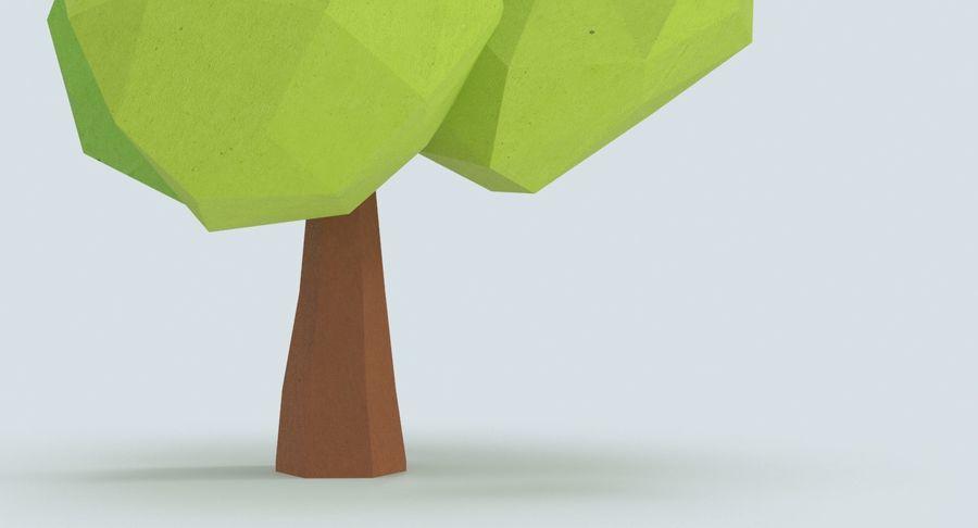 低聚绿叶树3 royalty-free 3d model - Preview no. 9