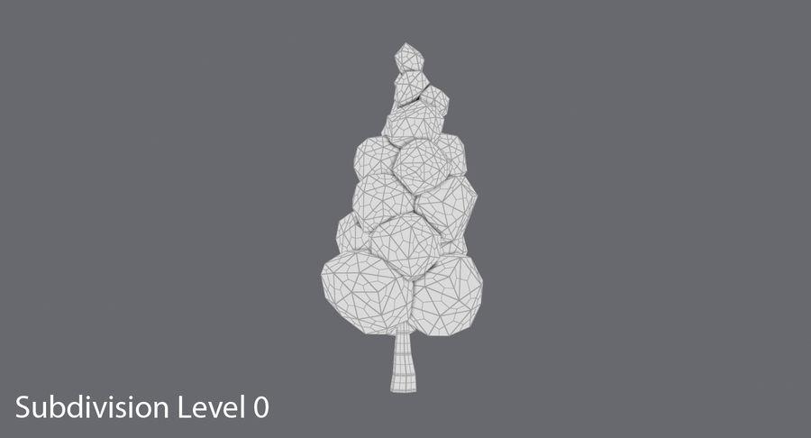 低聚绿叶树3 royalty-free 3d model - Preview no. 11