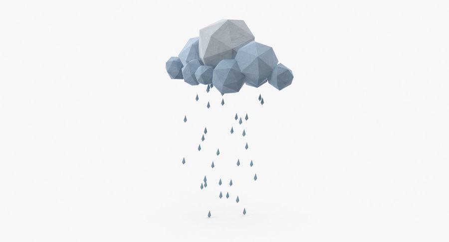 Nube de tormenta de baja poli 3 royalty-free modelo 3d - Preview no. 2