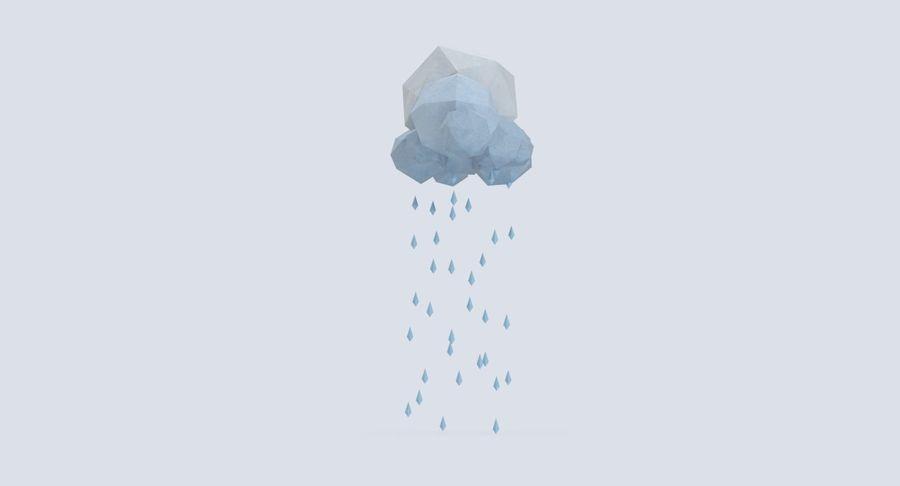 Nube de tormenta de baja poli 3 royalty-free modelo 3d - Preview no. 6