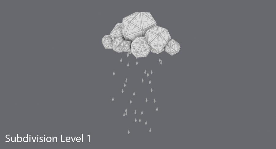 Nube de tormenta de baja poli 3 royalty-free modelo 3d - Preview no. 13