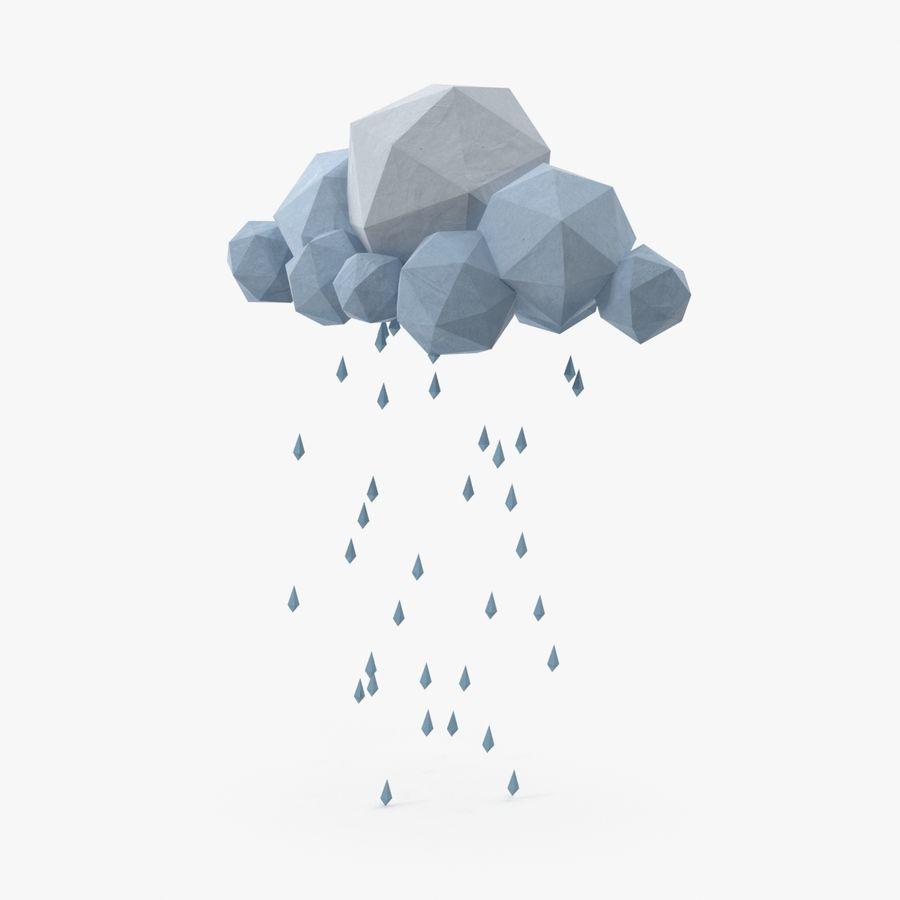 Nube de tormenta de baja poli 3 royalty-free modelo 3d - Preview no. 1