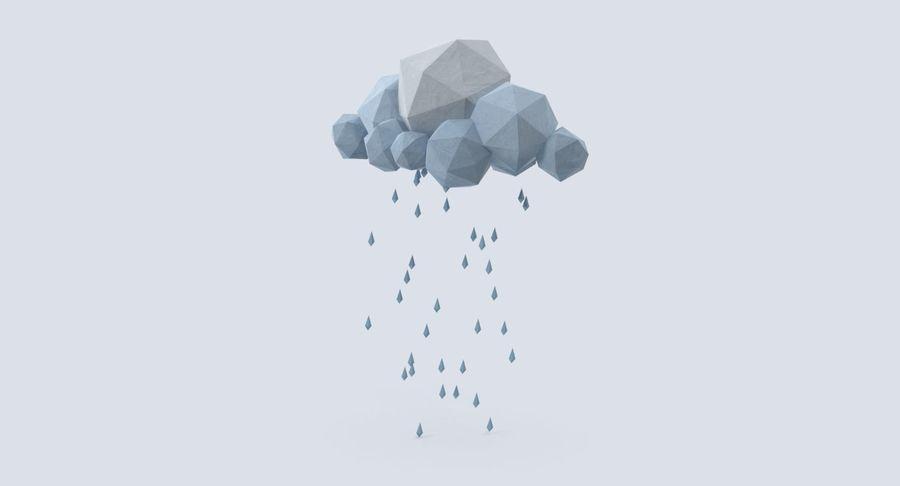 Nube de tormenta de baja poli 3 royalty-free modelo 3d - Preview no. 3
