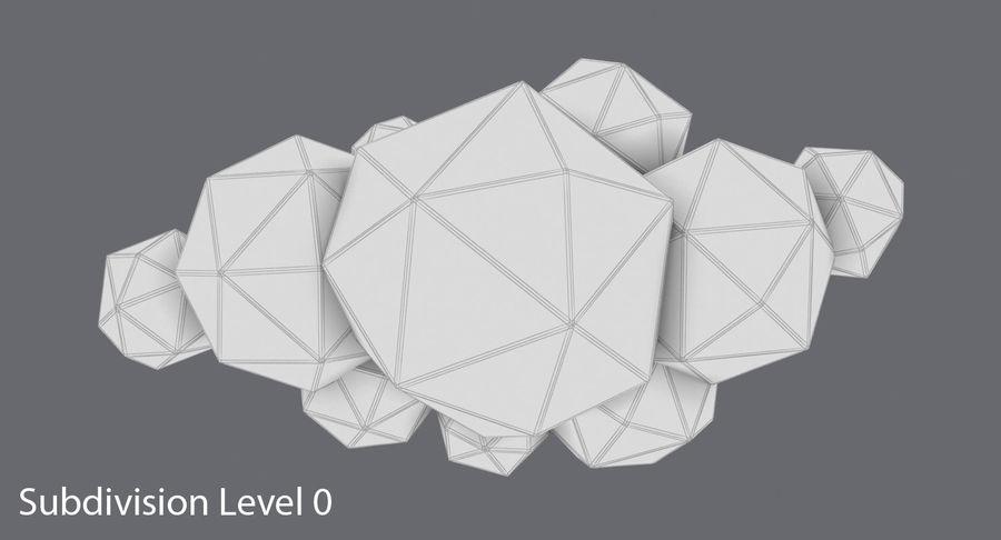 Nube de tormenta de baja poli 3 royalty-free modelo 3d - Preview no. 14