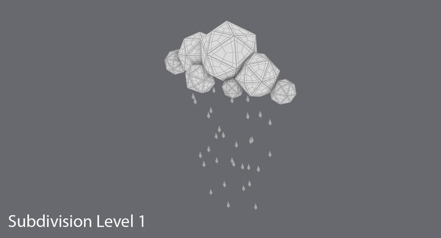 Nube de tormenta de baja poli 3 royalty-free modelo 3d - Preview no. 17