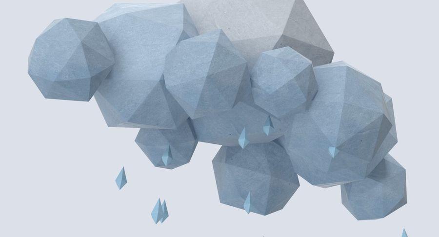 Nube de tormenta de baja poli 3 royalty-free modelo 3d - Preview no. 9