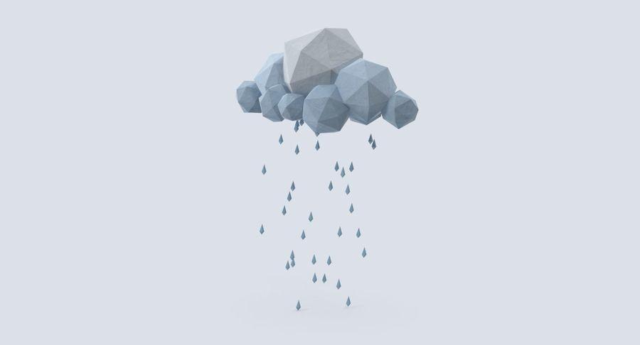 Nube de tormenta de baja poli 3 royalty-free modelo 3d - Preview no. 4