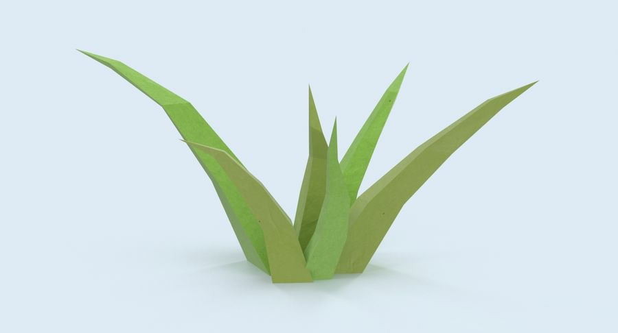 Low Poly Grass Small royalty-free 3d model - Preview no. 4