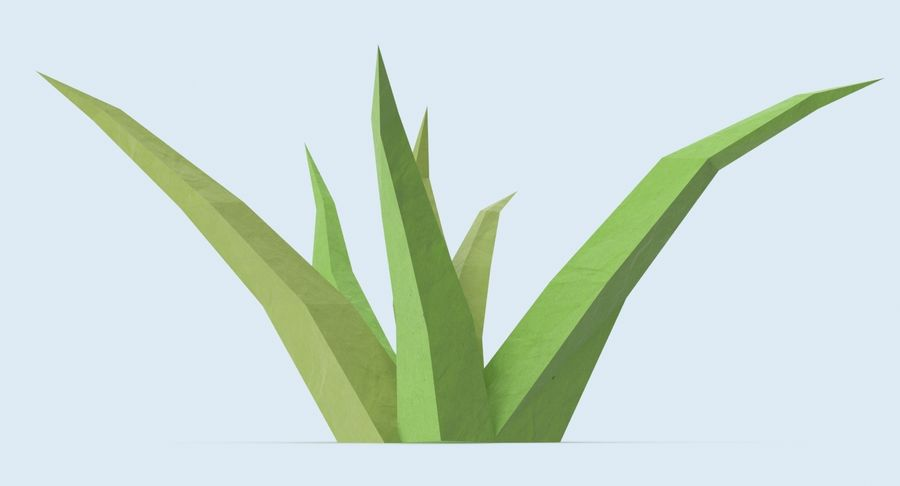 Low Poly Grass Small royalty-free 3d model - Preview no. 5