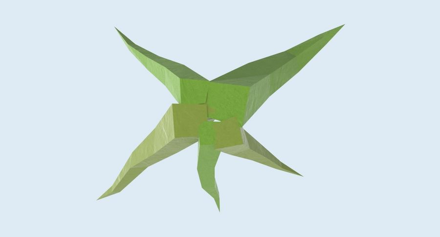 Low Poly Grass Small royalty-free 3d model - Preview no. 10