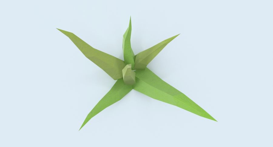 Low Poly Grass Small royalty-free 3d model - Preview no. 7