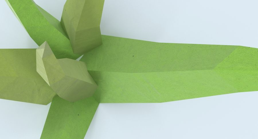 Low Poly Grass Small royalty-free 3d model - Preview no. 9