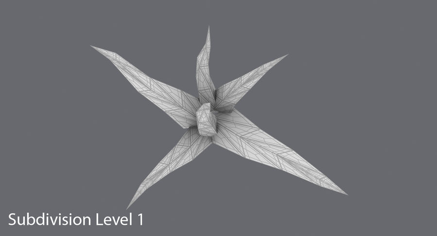 Low Poly Grass Small royalty-free 3d model - Preview no. 14
