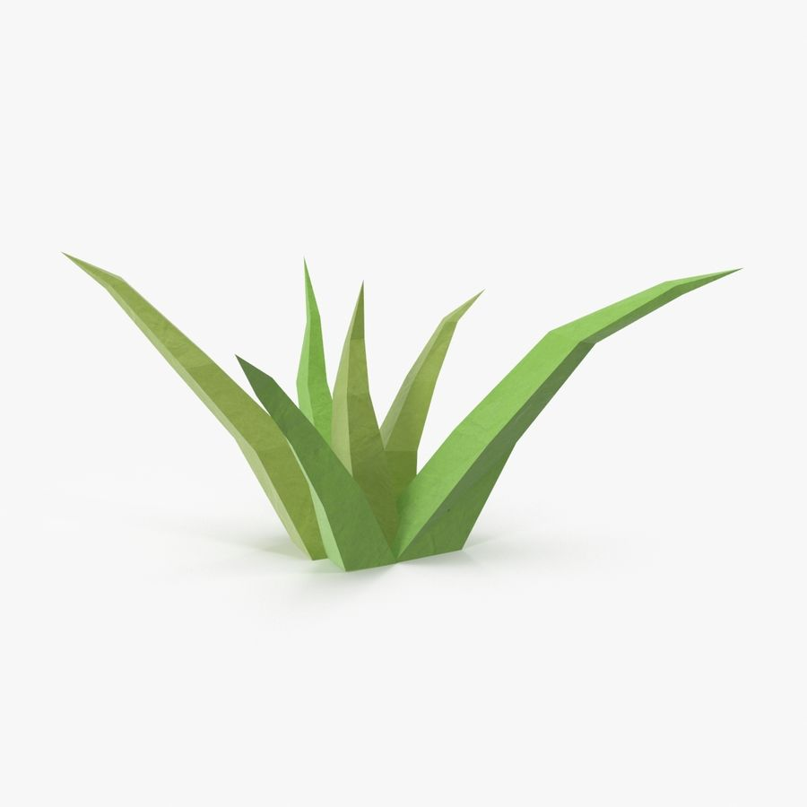Low Poly Grass Small royalty-free 3d model - Preview no. 1