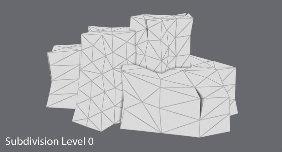 低ポリ岩02 royalty-free 3d model - Preview no. 14
