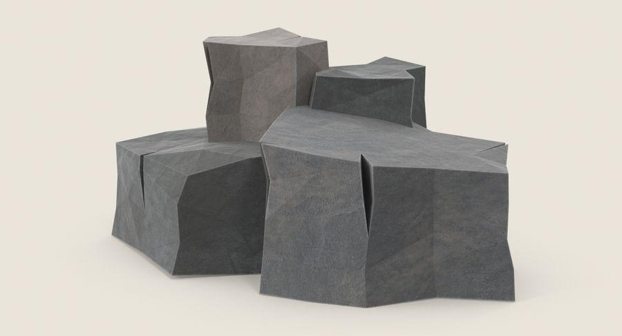 低ポリ岩02 royalty-free 3d model - Preview no. 3