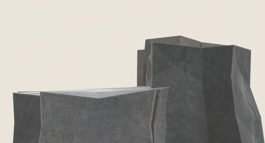 低ポリ岩02 royalty-free 3d model - Preview no. 9