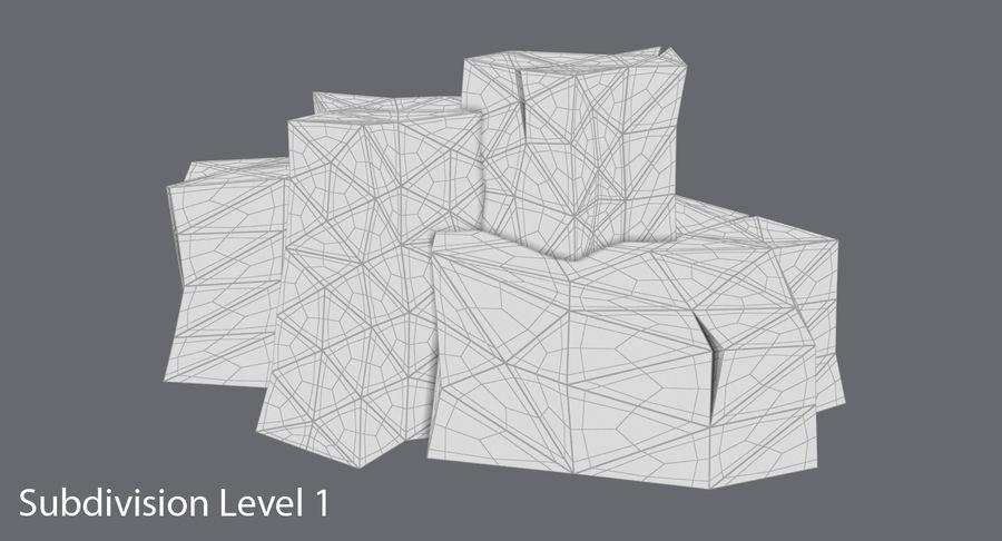 低ポリ岩02 royalty-free 3d model - Preview no. 12