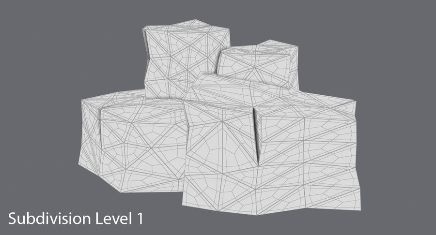 低ポリ岩02 royalty-free 3d model - Preview no. 13
