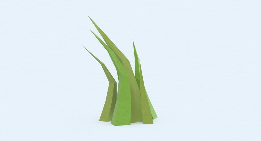 Low Poly Grass Medium royalty-free 3d model - Preview no. 4