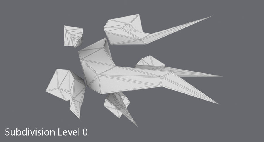 Low Poly Grass Medium royalty-free 3d model - Preview no. 12