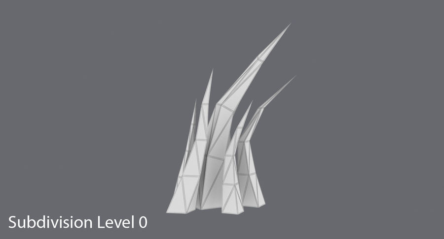 Low Poly Grass Medium royalty-free 3d model - Preview no. 10
