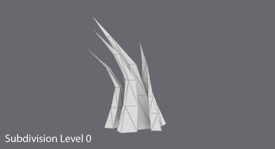 Low Poly Grass Medium royalty-free 3d model - Preview no. 14