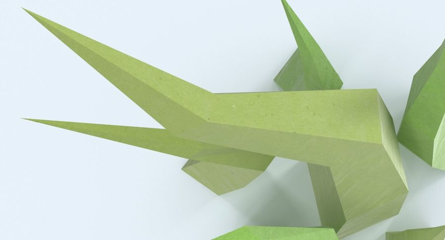 Low Poly Grass Medium royalty-free 3d model - Preview no. 8