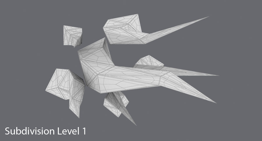 Low Poly Grass Medium 02 royalty-free 3d model - Preview no. 13