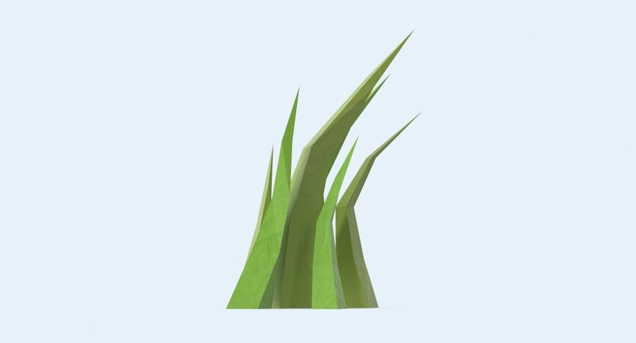 Low Poly Grass Medium 02 royalty-free 3d model - Preview no. 5