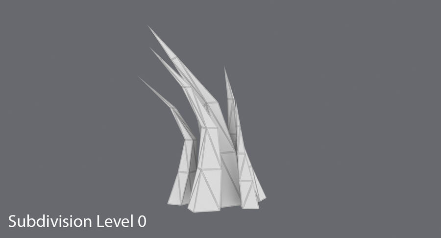Low Poly Grass Medium 02 royalty-free 3d model - Preview no. 14