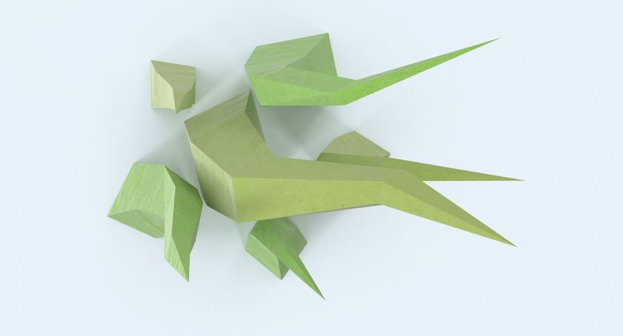 Low Poly Grass Medium 02 royalty-free 3d model - Preview no. 9