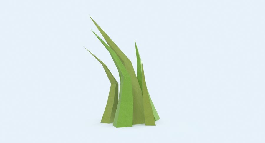 Low Poly Grass Medium 02 royalty-free 3d model - Preview no. 4