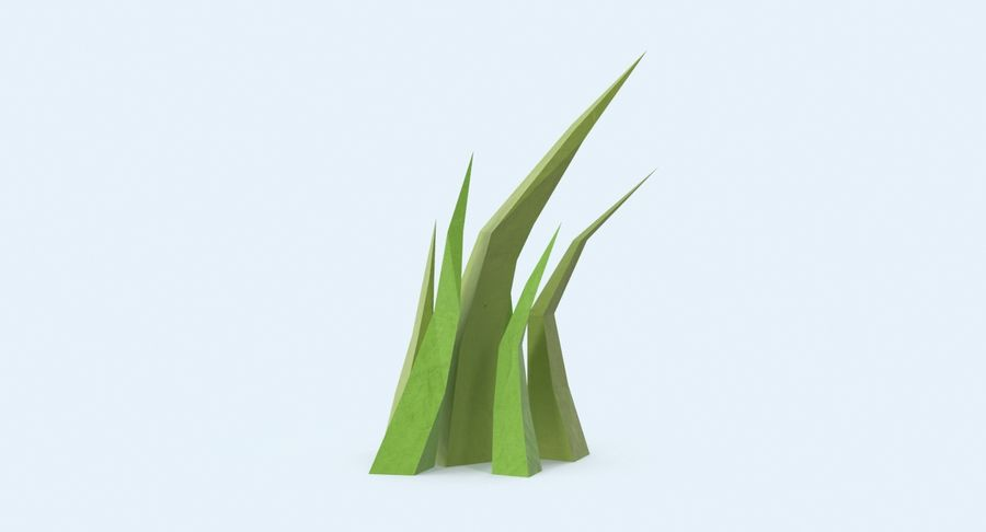 Low Poly Grass Medium 02 royalty-free 3d model - Preview no. 3