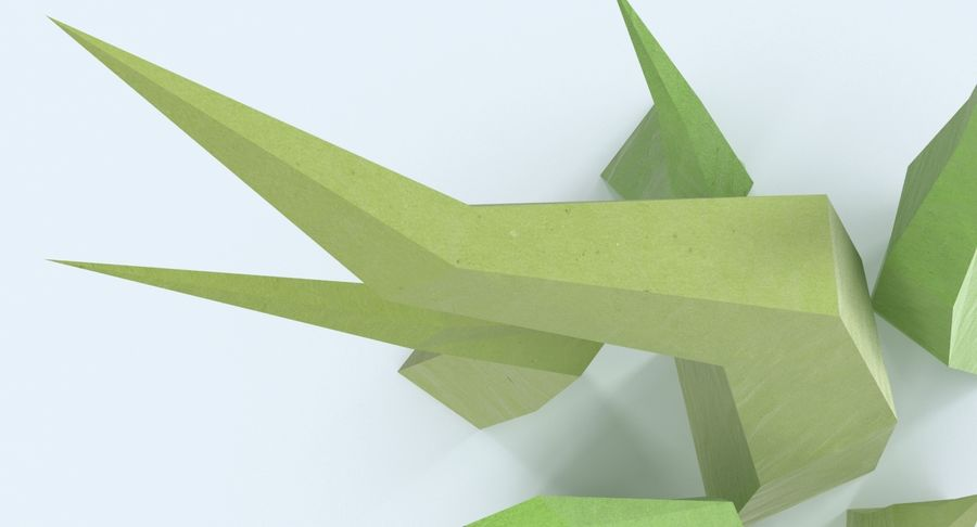 Low Poly Grass Medium 02 royalty-free 3d model - Preview no. 8