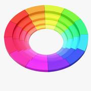 Roda de cores 03 3d model
