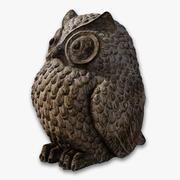 Owl Bird Statue 3d model