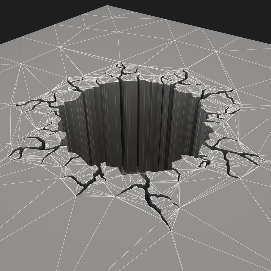 Cracked Hole 3d Model 29 3ds Obj Fbx Max Free3d