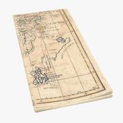 Retro Map 01 01 3d model