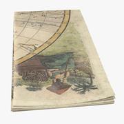 Retro Map 02 01 3d model